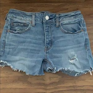 Tomgirl cutoff jean shorts from American Eagle